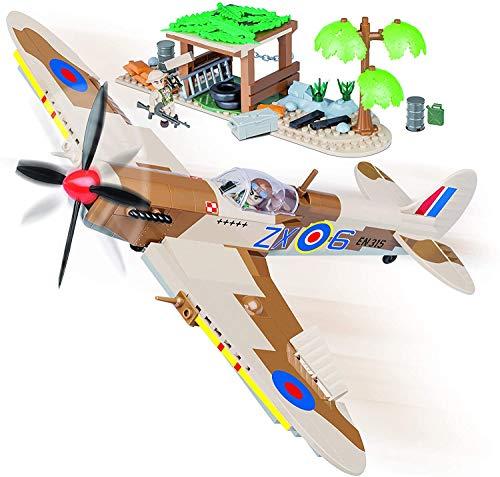 COBI- Supermarine Spitfire Desert Airstrip, avión base (5545) , color/modelo surtido