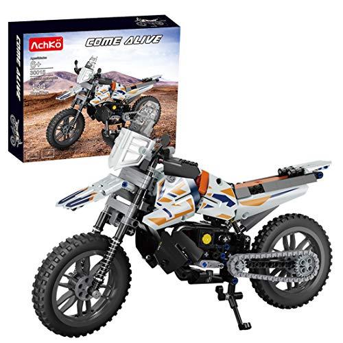 BGOOD Juego de construcción de moto para KTM-790, 434 bloques de construcción de sujeción, compatible con Lego Technic