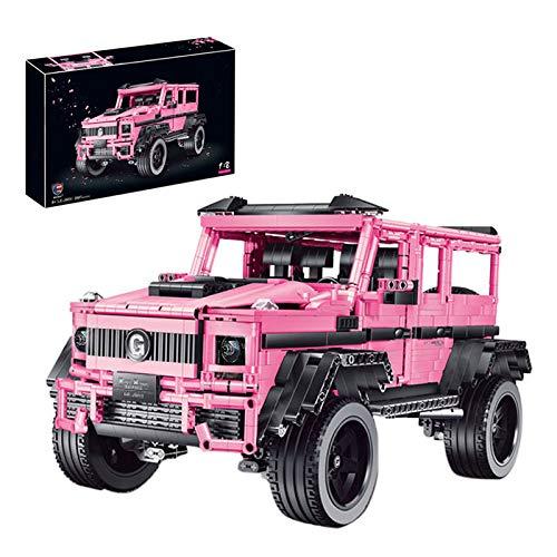 HYZM Technic 4 x 4 bloques de construcción para vehículos todoterreno, 2687 piezas 1: 8 SUV modelo Kit de construcción, compatible con Lego Technic