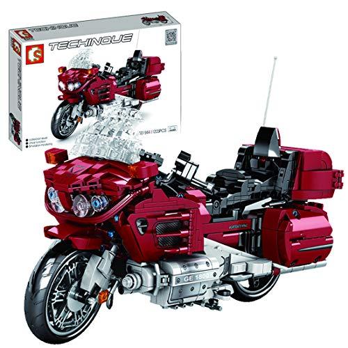 BGOOD Juego de construcción de moto para Gold Wing 1800, 1205 bloques de montaje de sujeción, compatible con Lego Technic