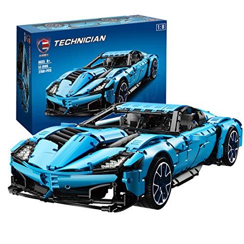 HYZM Technic Sports - Bloques de construcción para modelos de coche, 2700 unidades, 1:8, kits de construcción para modelo de coche Corvette Grand Sport, compatible con Lego Technic