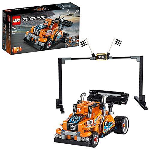 LEGO Technic - Camión de Carreras, Set de Construcción 2 en 1 con Motor Pull-back, Set de la Colección Racer Vehicles, a Partir de 7 Años (42104)