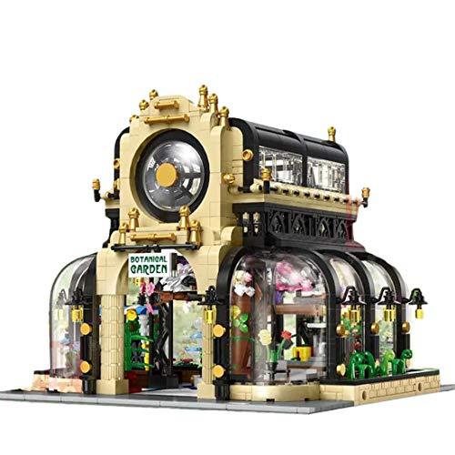 BGOOD Mould King 16019 Botanical Garden, 2147 bloques de construcción para el jardín botánico, con iluminación, modelo de casas, compatible con Lego