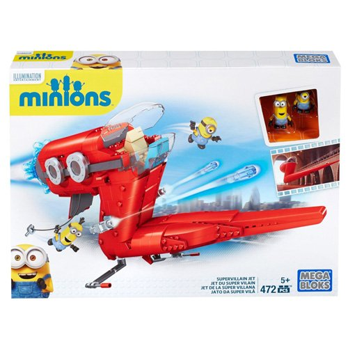 MINIONS - Juego de construcción, avión (Mattel CNF60-9964)