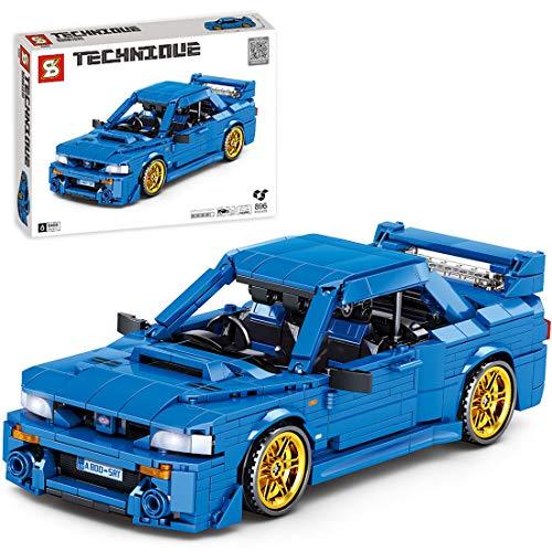 ColiCor Technic Sports Car Model, 896pcs Kits de modelismo de Coche Deportivo para Speed Champions, Technic Modelo Juguete de Coche de Carreras Compatible con Lego
