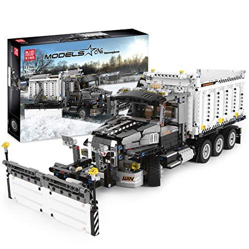 WEERUN Technic Quitanieves Camion Set de Construcción de Vehículo, 1694 Piezas Bloques de Construcción Juguetes de Construcción Compatible con Lego Technic