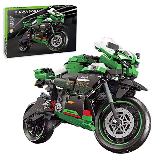 BGOOD Motocicleta técnica para Kawasaki Ninja 400, 1006, bloques de construcción de sujeción, juego de construcción compatible con Lego Technic