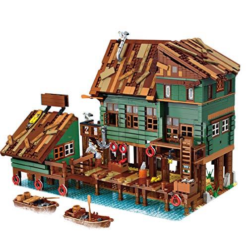 Modelo de Construcción de Bloques, ColiCor 2745Pcs Antiguo Muelle de capitanes de Pesca Construcción Edificio de Ladrillos Creativo Conjunto de Bloques, Compatible con Lego
