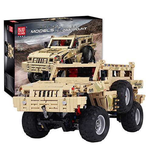 HYZM Technic - Bloques de construcción de camiones todoterreno para escalar vehículos todoterreno para paramount, compatibles con Lego