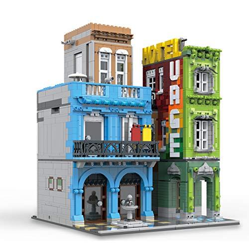 ColiCor Modelo de Construcción de Bloques 4104 Piezas Hotel Edificios de Juguete Construcción Edificio de Ladrillos Creativo Conjunto de Bloques, Compatible con Lego