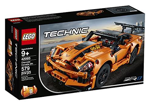 LEGO42093TechnicChevroletCorvetteZR 1ModelodeCochedeCarreras2 en 1, SetdeConstrucciónparaNiñosa Partir de 9años