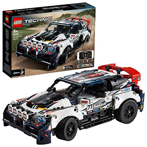 LEGO 42109 Technic Control+ Coche de Rally Top Gear Controlado por App, Teledirigido para Niños +9 Años, Maqueta para Construir