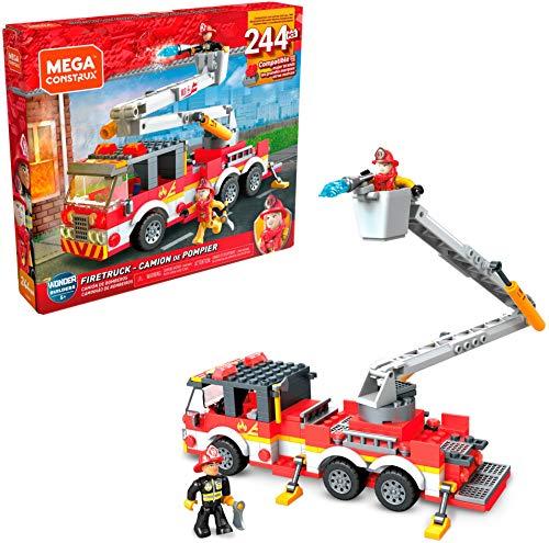 Mega Construx- Camión de Bomberos, Juguete de Bloques de construcción para niños + 5 años (Mattel GLK54)