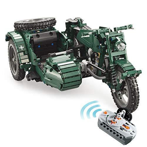 ColiCor Technic Modelo de Motocicleta 629pcs 2.4G 4CH Control Remoto Juego de Construcción de Technic Motocicleta Bloques Motocicleta, Compatible con Lego Technic