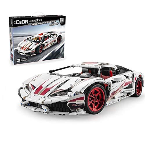 HYZM Technic Sports - Bloques de construcción para coche, modelo Lambo Huracan LP610 Supercar, 1696 piezas, kits de construcción compatibles con Lego Technic