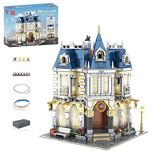 BGOOD Mould King 11005 2805 - Bloques de construcción para casa, construcción de maquetas con iluminación, modelo de casas, compatible con Lego Creator Expert