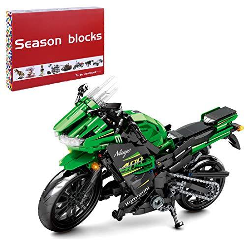 HYZM Technic - Bloque de construcción para motocicleta, 862 piezas, modelo de motocicleta de carreras para Kawasaki Ninja 400, juego de construcción compatible con Lego