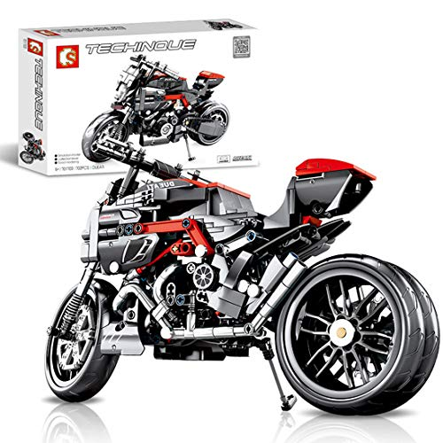 ColiCor Technic Motocicleta, 702pcs Juego de construcción de Technic Motocicleta Bloques para Harley Davidson Fat Boy Motocicleta, Compatible con Lego