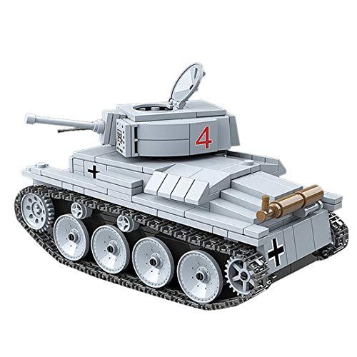Tanques Militares Modelo de Bloques de Construcción, ColiCor 535pcs WW2 Germany LT-38 Ligero Tanque Modelo, Juguetes del Tanque del Ejército para niños y Adultos, Compatible con Lego