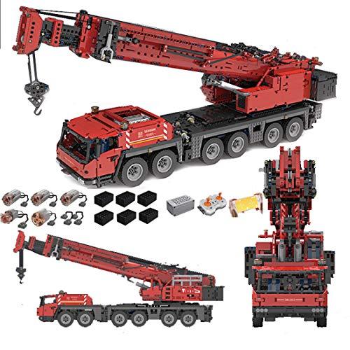 BGOOD Grúa de ingeniería Grove GMK6400 III, Mould King 17013, 4460 bloques de construcción, grúa de carga pesada con 5 motores y mando a distancia, doble mando a distancia, compatible con Lego Technic