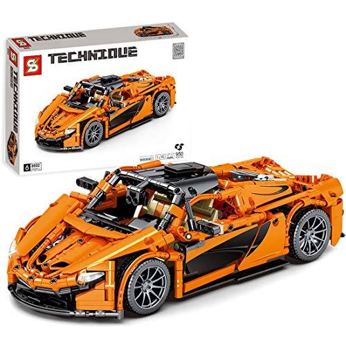 ColiCor Sports Car Model, 950pcs Modelo de Coche Deportivo Bloques, Modelo de Coche de Carreras Bloque Compatible con Lego