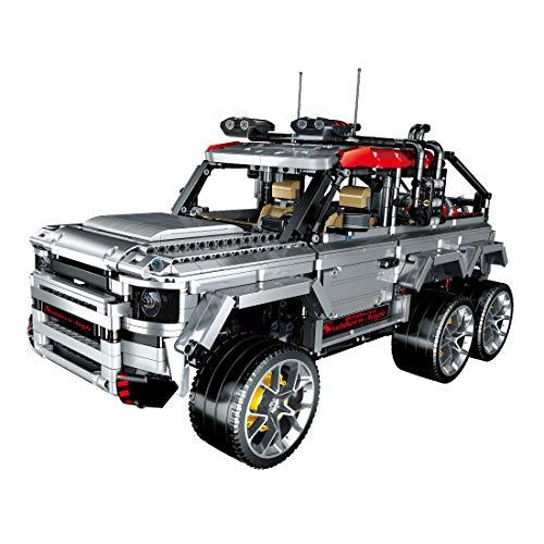 HYZM Technic 6 x 6 bloques de construcción para vehículos todoterreno, 3082 piezas 1: 10 SUV modelo Kit de construcción, compatible con Lego Technic