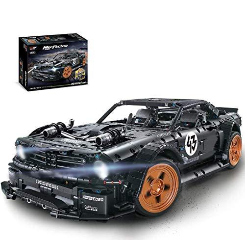 PEXL Juego de construcción de bloques de construcción para Ford Mustang Sportwagen, coche de carreras técnico, 3140 bloques de montaje compatibles con Lego Technic