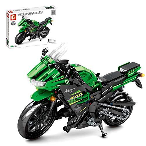 ColiCor Technic Motocicleta, 862pcs Juego de construcción de Technic Motocicleta Bloques para Ducati Panigale V4 R Motocicleta, Compatible con Lego