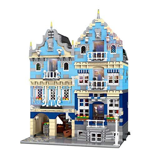 ColiCor Modelo de Construcción de Bloques con luz 3016Pcs Grand Emporium Edificios de Juguete Construcción Edificio de Ladrillos Creativo Conjunto de Bloques, Compatible con Lego