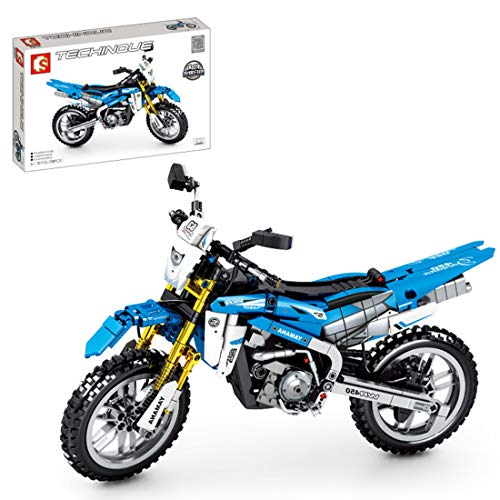 BGOOD Juego de construcción de moto para Yamaha 450, 799, bloques de construcción de sujeción, compatible con Lego Technic