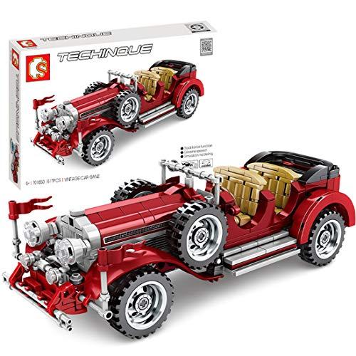 HYZM Technic - Juego de 617 bloques de construcción de coche clásico Techinque, compatible con Lego Technic