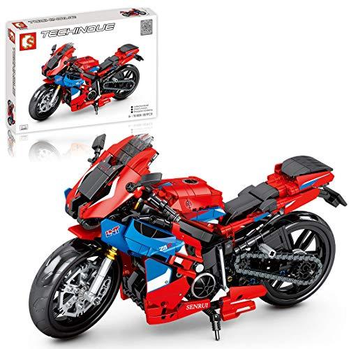ColiCor Technic Modelo de Motocicleta, 857pcs Juego de Construcción de Technic Motocicleta Bloques para V4 Motocicleta, Compatible con Lego Technic