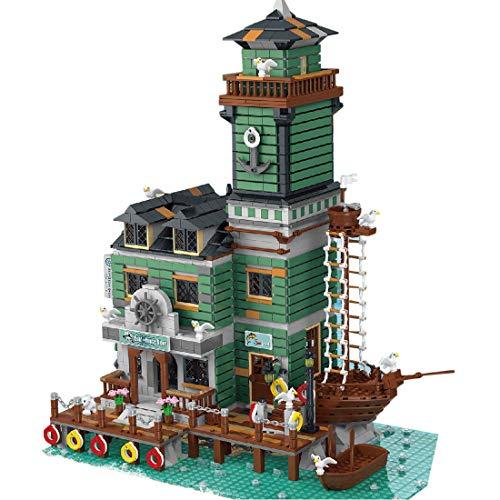 Modelo de Construcción de Bloques, ColiCor 3545pcs Antiguo Restaurante de Pesca Construcción Edificio de Ladrillos Creativo Conjunto de Bloques, Compatible con Lego
