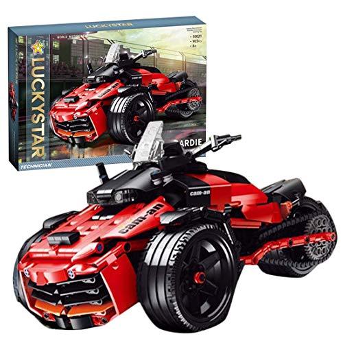 BGOOD Juego de construcción para moto Bombardier, 903 bloques de sujeción, técnica de carreras, juego de construcción compatible con Lego Technic