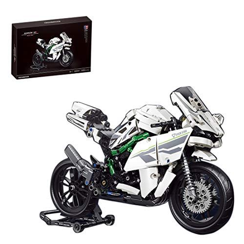 ColiCor Technic Modelo de Off-Road Motocicleta 800pcs Juego de construcción de Technic Motocicleta Bloques para V4 Motocicleta , Compatible con Lego Technic