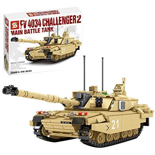 ColiCor Tanques Militares Modelo de Bloques de Construcción, 904pcs WW2 Challenge 2 Tanque Modelo, Juguetes del Tanque del Ejército para niños y Adultos, Compatible con Lego