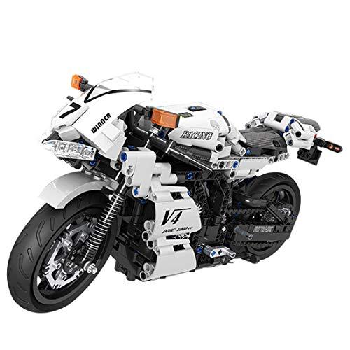 ColiCor Technic Modelo de Carreras Motocicleta 716pcs Juego de construcción de 1: 6 Technic Motocicleta Bloques para Ducati Panigale V4 R Motocicleta , Compatible con Lego Technic