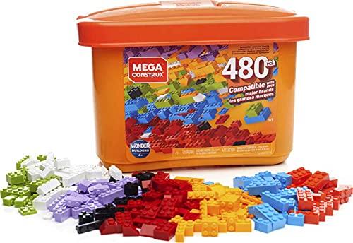 Mega Construx Caja de 480 piezas y bloques de construcción para niños +3 años (Mattel GJD23) , color/modelo surtido