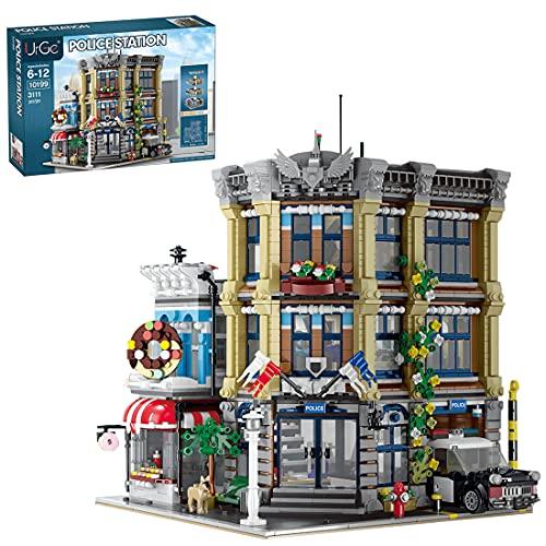 BGOOD UrGe 10199 3111 - Bloques de construcción para construcción de edificios, construcción de policía modular, construcción de maquetas, arquitectura, casas, compatible con Lego Creator Expert