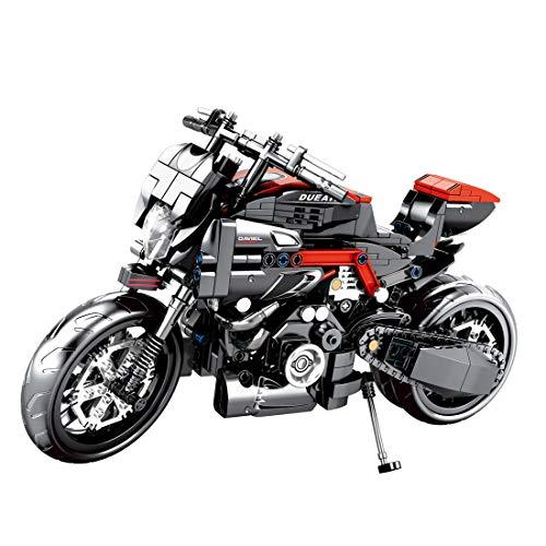 Technic Motocicleta, ColiCor 702pcs Juego de construcción de Technic Motocicleta Bloques para Harley Davidson Fat Boy Motocicleta, Compatible con Lego