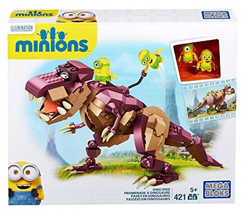 Minions - Dinosaurio 421 piezas, multicolor (Mega Brands 601161) , color/modelo surtido