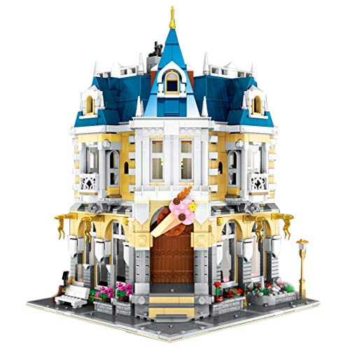 ColiCor Modelo de Construcción de Bloques 2032 Pcs Tienda Cofe Edificios de Juguete Construcción Edificio de Ladrillos Creativo Conjunto de Bloques, Compatible con Lego