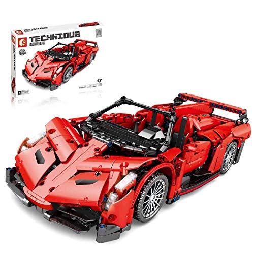 WEERUN Technic Coche Deportivo Set de Construcción de Vehículo,1:14 Scale Coche de Carreras, 1213Piezas Bloques de Construcción Compatible con Lego Technic