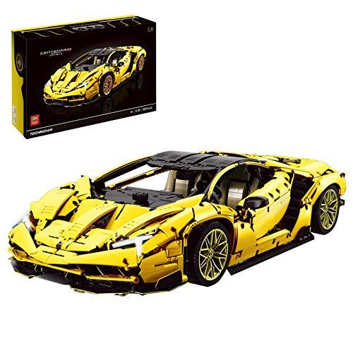 HYZM Technic Sports - Bloques de construcción para coche, 3899 piezas, Lambo Centenario Supercar, compatible con LEGO Technic