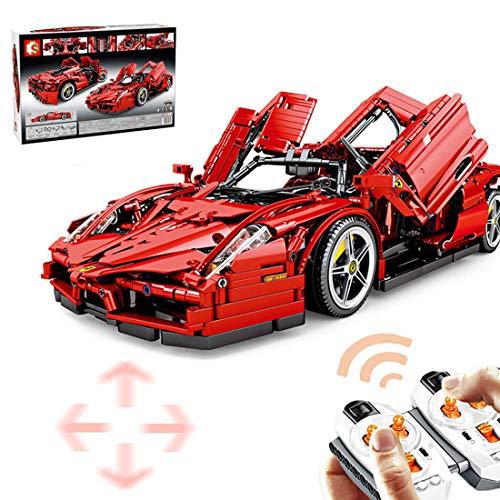 HYZM Technic Deportivo de Carrera Maqueta, 2615Piezas 2.4G RC Construcción de Coche de Carreras con Control Remoto y Motores, Compatible con Lego Technic