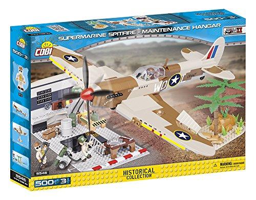 COBI- Supermarine Spitfire Maintenance Hangar, avión base (5546) , color/modelo surtido