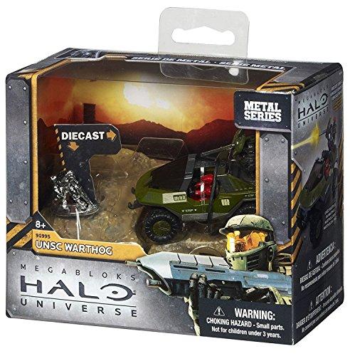 Juguete Mega Bloks Halo Metal Series hierro fundido Warthog UNSC